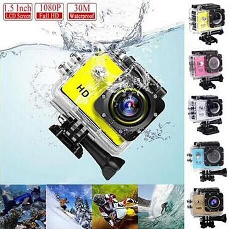 Picture of 30m Waterproof 1080p Full Hd Action Diving Camera Underwater Sport Cameras Sport Dv