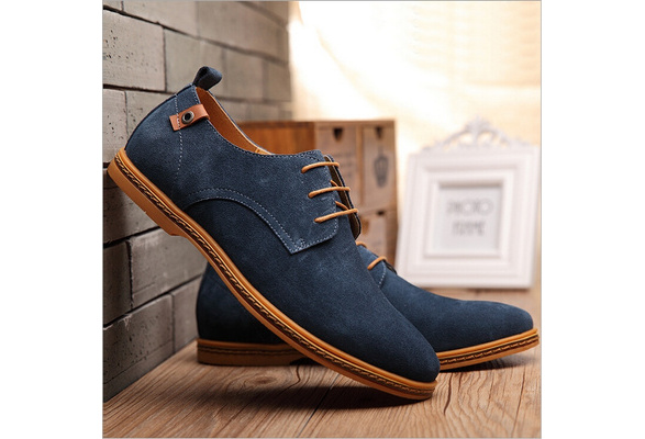2017 New High Quality Men Casual Shoes Plus size Men Loafers Lace Up Cow Leather Casual Flats Shoes chaussure homme cuir zapatos hombre sneakers