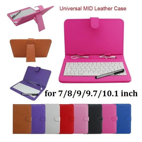 Picture of Leather Stand Case With Mini Micro Usb Keyboard For 7/8/9/9.7/10.1 Tablet