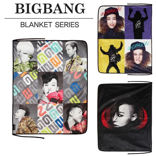 KPOP BIGBANG G-Dragon Lap Blanket Velboa/Polar Fleece Fabric Zipper Bag  Packaged