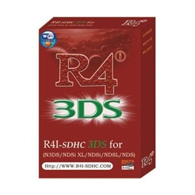 hot Nintendo R4i-SDHC 3DS RTS Card/R4 card for 2DS/3DSXL/DSi/DSLite (Color:  Red)