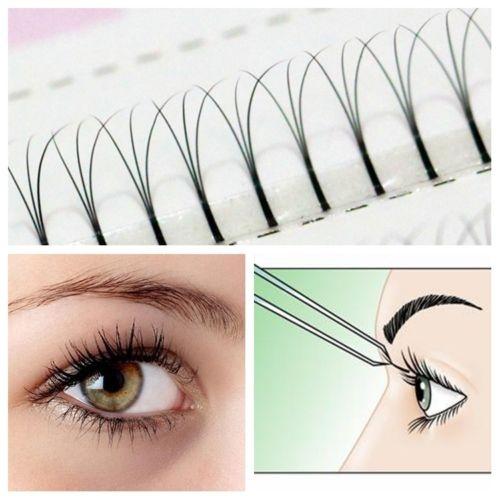 Picture of Women Lash Curl False Eyelashes Makeup Natural Fake Thick Eye Lashes 8-14mm