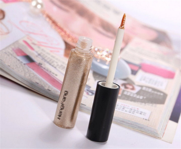 8 Colors Glitter Lip liner Eye Shadow Eyeliner Pencil Pen Cosmetic Makeup New UK