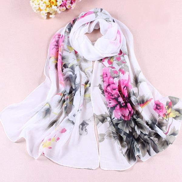Women, Scarves, Fashion, chiffon scarf