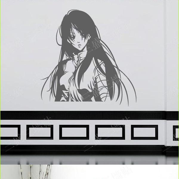 wish   vinyl stickers wall sticker film anime manga girl wall decal