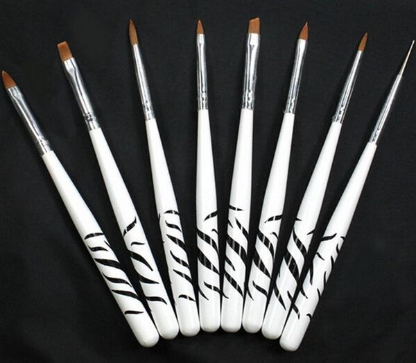Picture of 8pcs Nail Art Design Set Dotting Painting Drawing Polish Brush Pen Tools