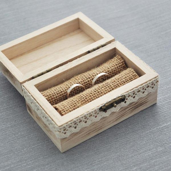 Wish   Rustic Wedding Ring Bearer Box, Wood Wedding Ring Box, Wedding Box  For Rings , We Do Ring Box , Wedding Gift