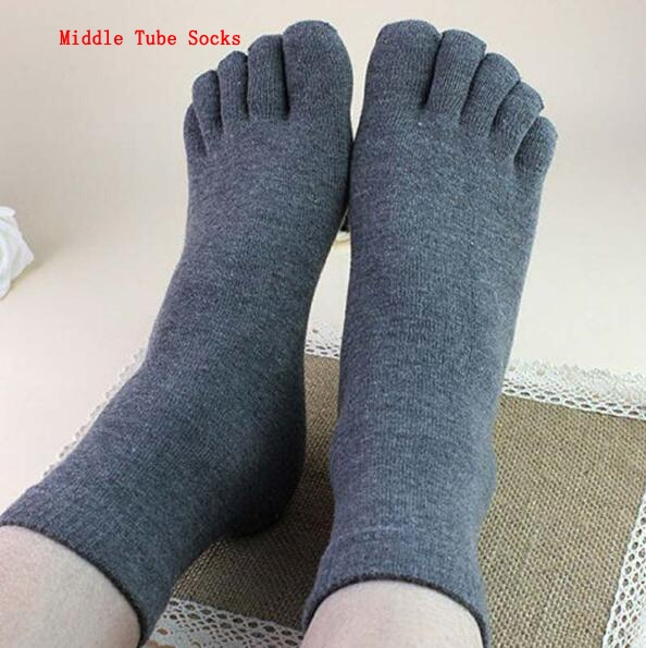 1 pair Cotton Men's Five Finger Socks Toe Socks Invisible Nonslip Ankle