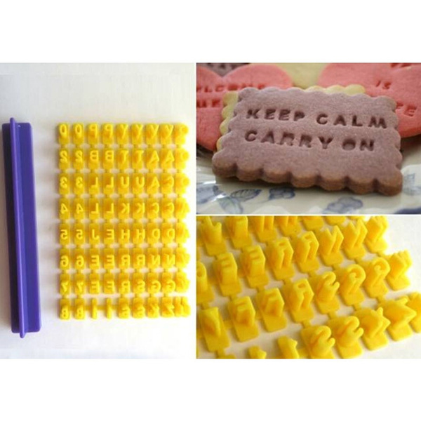 Number Alphabet Fondant Cookie Mould Cake Cutter Decor Baking Tools