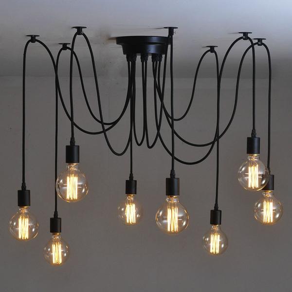 Edison Bulb Chandelier Loft Light