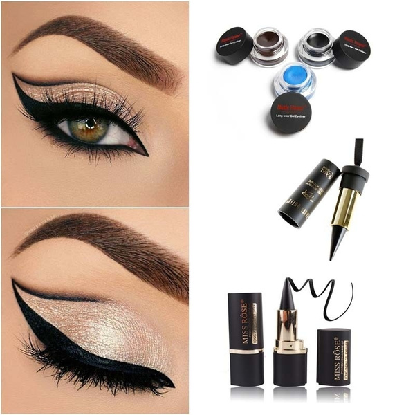 Picture of Women Eye Cosmetic Gel Eyeliner Water-proof And Smudge-proof Cosmetics Set Eye Liner Kit In Eye Makeup Brand Music Flower