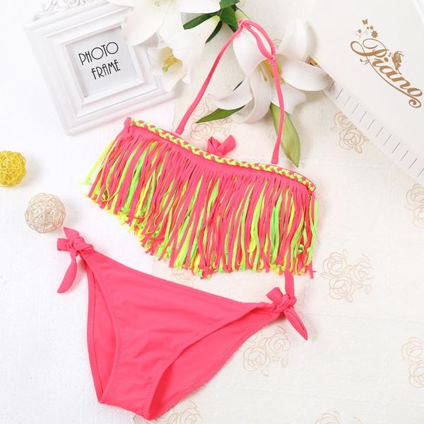bb71aabd5 3 To 11 Years Old Children Girls Bikini Sets For Summer Beach kids ...