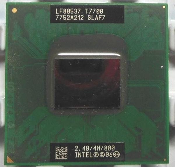 Intel Core 2 Duo T7700 2,4 GHz 4M 800 SLAF7 Notebook CPU