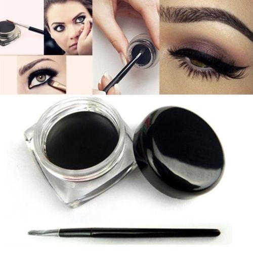Picture of Waterproof Eye Liner Makeup Black Liquid Eyeliner Shadow Gel Makeup+brush