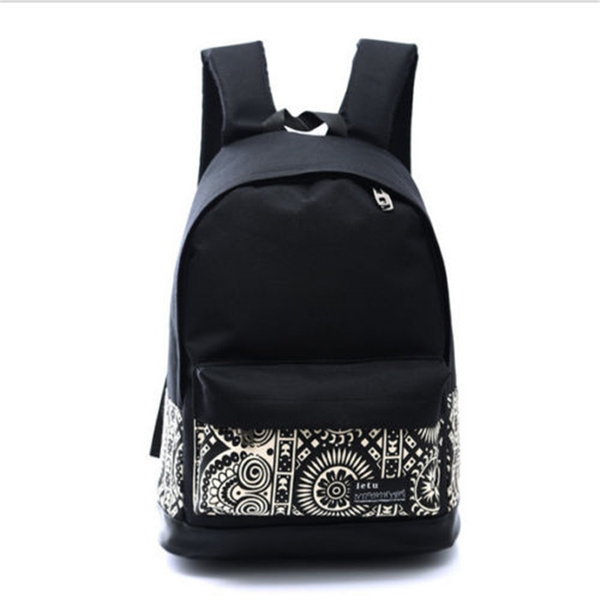 Picture of Middle School Backpack Size One Size Color Black White