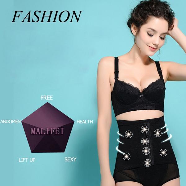 dce8dafa8 New Women s High Waist Lace Slimming Body Shaping Pants Resizable ...