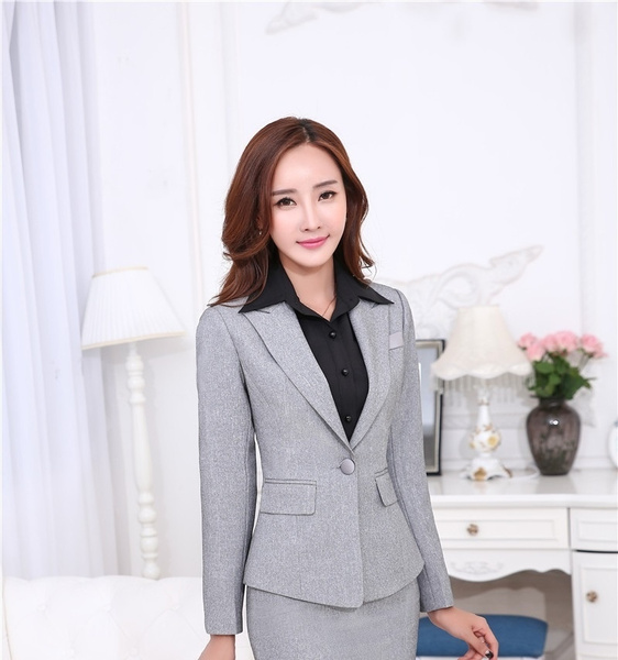 24da64c4261b83 Novelty Red Slim Fashion Professional Business Women Blazers Jackets ...