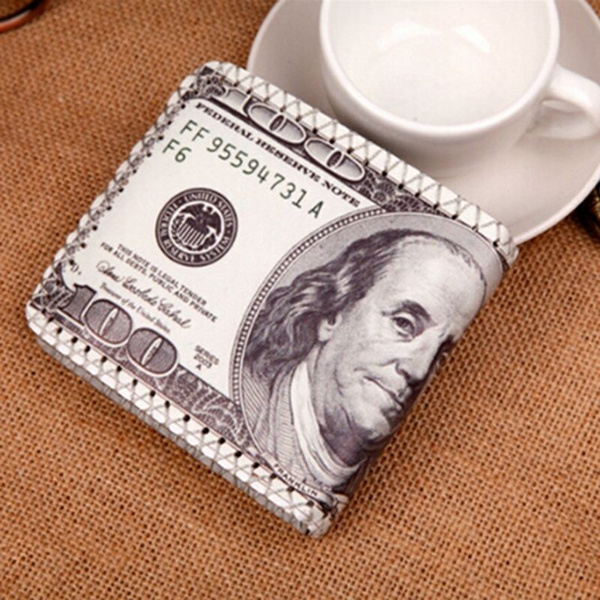 Picture of Us Dollars Leather Wallets Men's Wallets 100 Coin Holder Tops