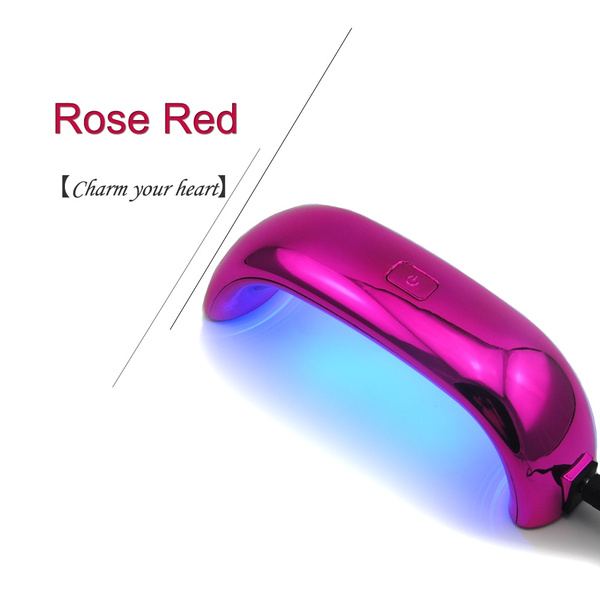 USB 9W UV Lamp LED Nail Art Dryer Gel Polish Manicure Tool
