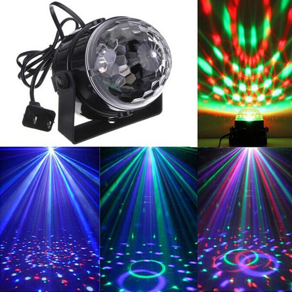 Picture of Music Active Rgb Rotating Led Stage Crystal Ball Xmas Club Dj Party Disco Light Eu Plug