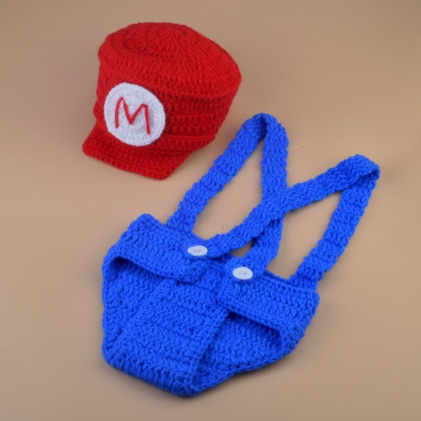 Wish Super Mario Bros Cap Super Mario Newborn Photo Propscrochet