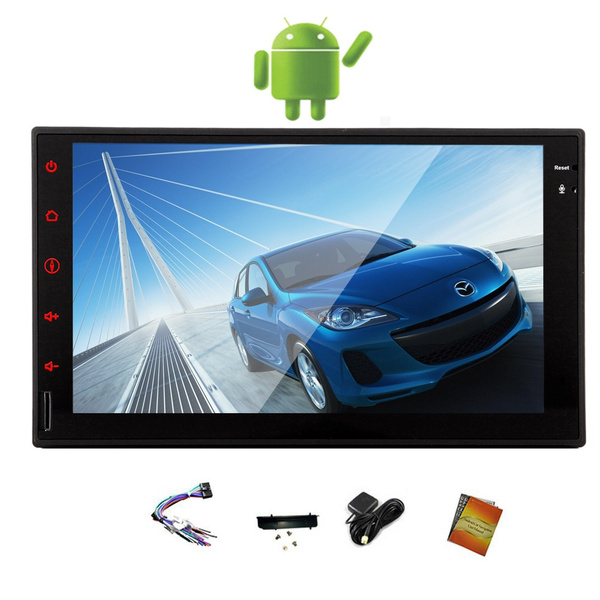 Android 4 4 OS 7 Inch NO-KEY FULL TOUCH Tablet Car Stereo GPS Navigation 2  Din Car Radio Video Player In Dash Car Monitor Bluetooth Quad Core WiFi