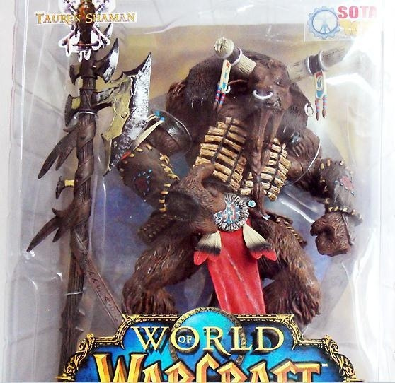Brand New Classic WOW Tauren 25cm Resin Action Figure Model Gift Toy GAME  Enthusiasts Christmas present