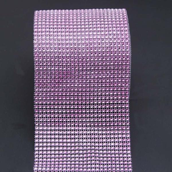 Diamond Mesh Wrap Roll Sparkle Rhinestone Crystal Ribbon for Wedding Decoration
