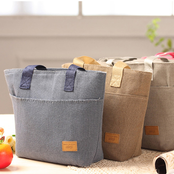 Picture of Portable Waterproof Insulated Thermal Cooler Lunch Box Carry Tote Storage Bag