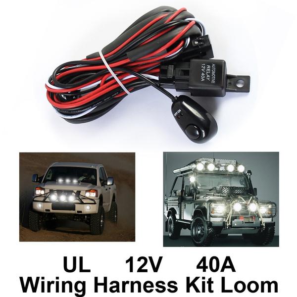 Car Fog Light Control Wiring Harness Kit Loom For LED Work Driving Light Bar