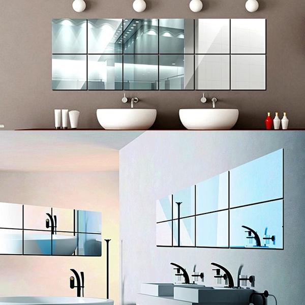 Glue Mirror Tiles To Wall Tile Designs