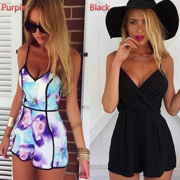 Picture of Floral Casual Jumpsuit Playsuit Rompers Trousers