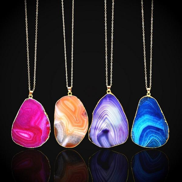 Crystal Polished Natural Quartz Healing Point Chakra Gemstone Necklace Pendant