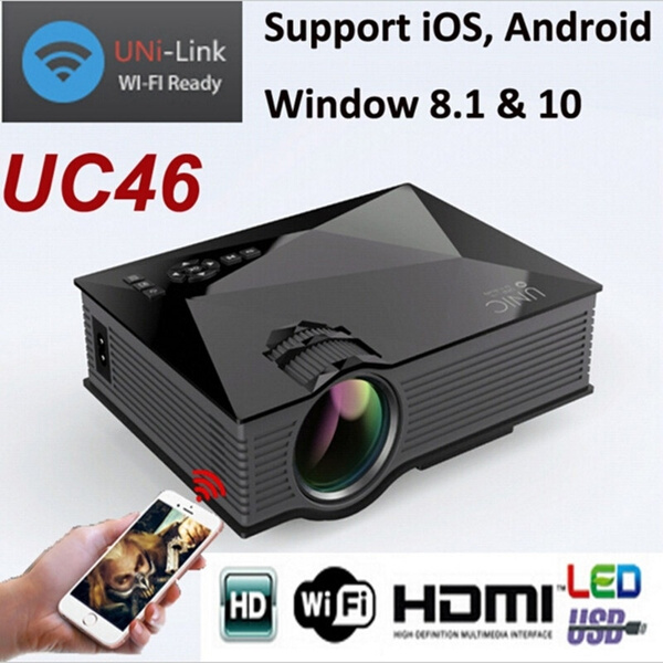 Picture of Newest Uc46 Mini Portable Projector Support Wifi 3d Home Theater Beamer Mini Projector Led Full Hd 1080p Video Lcd Projector