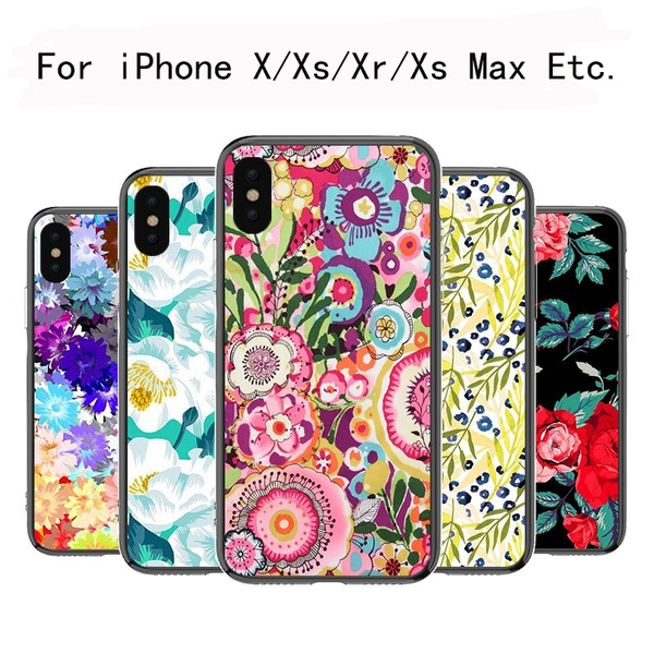 Picture of Floral Printed Moblie Phone Case For Iphone 5 5c 6 6s 6 Plus 7 7plus Samsung Galaxy S5 S6 S6 Edge S7 Edge S8 Plus Note 5 4 A7 A8 Htc M9 M8 Huawei Etc