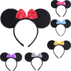 Kids Hairbows Mickey Design Party Hair Accessory Rose HS