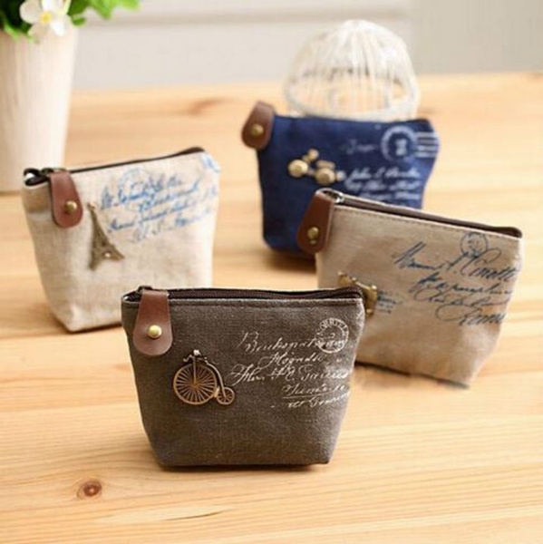 Picture of Women Canvas Coin Purse Cute Vintage Wallets Storage Bags Monederos Card Bags