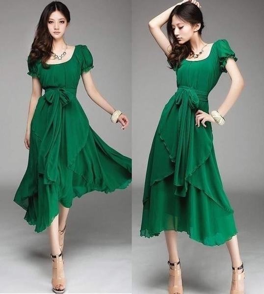 Wish | Damen Strand Chiffon Boho Lang Maxi Kleider Partykleid ...