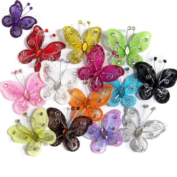 butterfly, withrhinestone, Decor, butterflyrhinestone