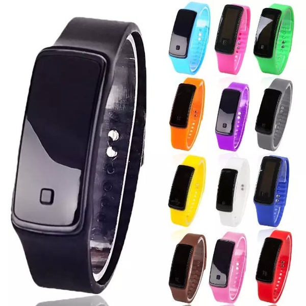 Picture of Womens Men Silicone Band Digital Led Bracelet Wristwatch Sports Running Watches