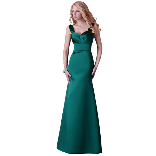 Wish Dark Emerald Green Evening Dresses Women Long Prom Dress Slim