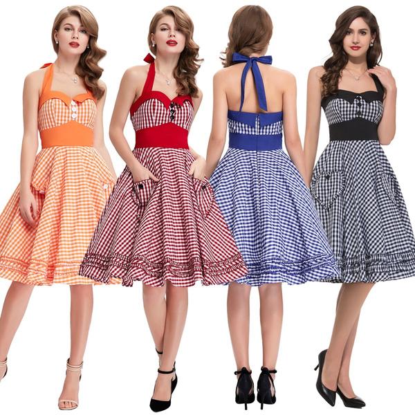 Vintage Retro 50\'s Swing Housewife PLUS SIZE Dresses