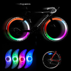 4 Color Bike Bicycles Cycling Spoke Wire Tire Tyre Wheel LED Bright Light Lamp