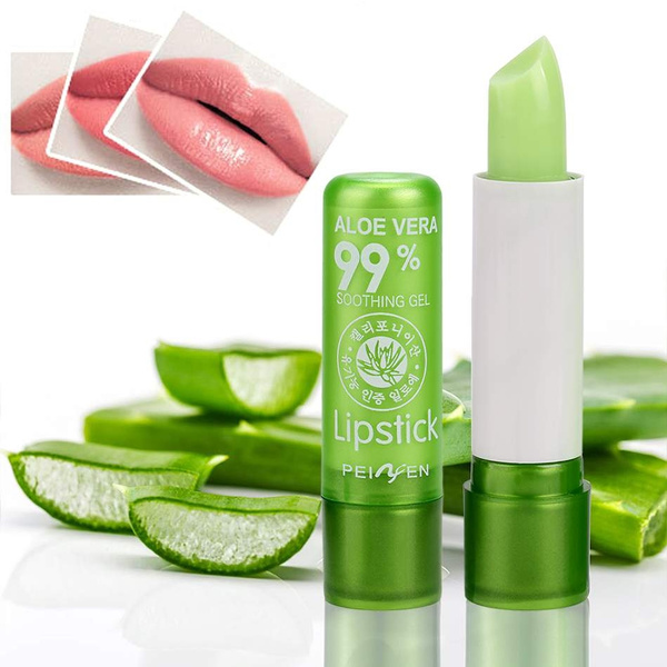 Picture of 1pcs Aloe Vera Lipstick Color Mood Changing Long Lasting Moisturizing Lip Stick