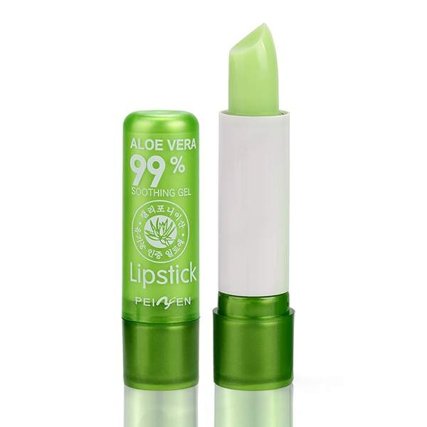 1PCS Aloe Vera Lipstick Color Mood Changing Long Lasting Moisturizing Lip Stick