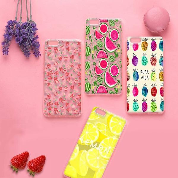 Picture of Cute Phone Case Fruit Series Watermelon Strawberry Lemon Pineapple Transparent Moblie Phone Case For Iphone 4 5 5c 6 6s 6 Plus 7 7plus Samsung Galaxy S5 S6 S6 Edge S7 Edge S8 Plus Note 5 4 A7 A8 Htc M9 M8 Huawei Etc