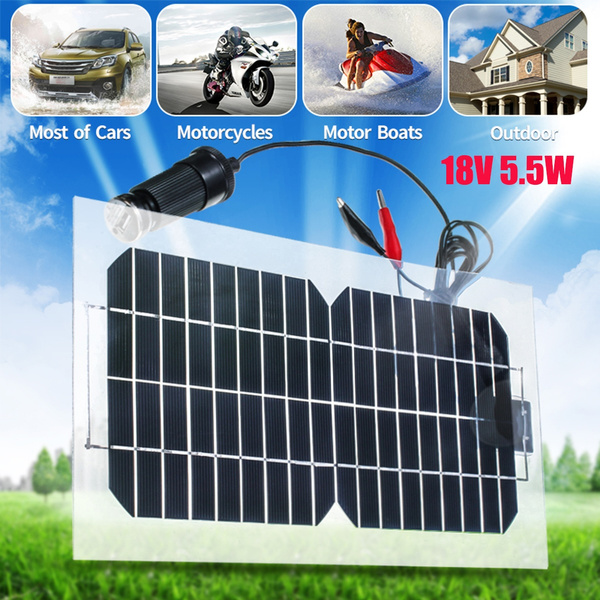 Picture of Solar Power 18v 5.5w Semi-flexible Solar Panel Usb Transparent Monocrystalline Solar Cell Photovoltaic Solar Panel Module With Usb Interface For Outdoor Working Solar System
