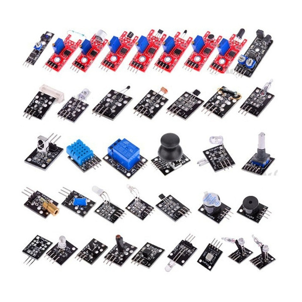 Picture of 37 In 1 Box Sensor Kits For Arduino Works With Official Arduino Boards Electronic Component 174-08-00513 Size 0 Color Multicolor