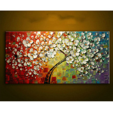 Decor, Flowers, art, Colorful