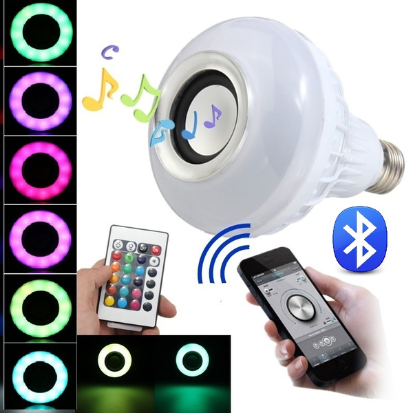 Picture of Wireless E27 Bluetooth Led Stereo Audio Speaker Rgb Color Warm White Bulb Music Lamp